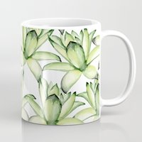 succulents Mugs featuring Succulents by Julia Badeeva