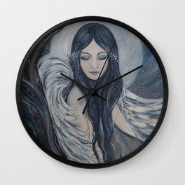 Snowy Angel Wall Clock