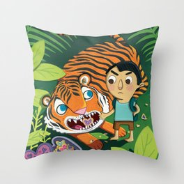 Cookie Tiger Throw Pillow