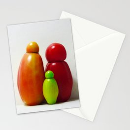 A Family Of Three Stationery Cards