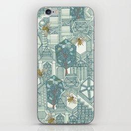 hexagon city iPhone Skin