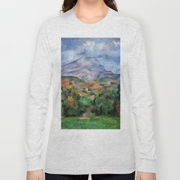"Paul Cezanne ""Mont Sainte-Victoire"", c.1890 Long Sleeve T-shirt"