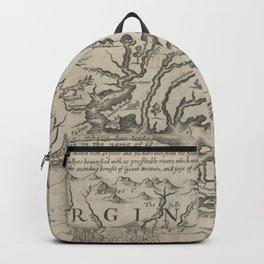Vintage Map of Virginia (1651) Backpack
