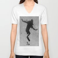 skate V-neck T-shirts featuring Skate by Keepcalmdude