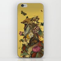 leaves iPhone & iPod Skins featuring Fox Confessor by Lindsey Carr