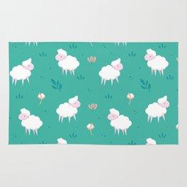 Calm sheep pattern Rug