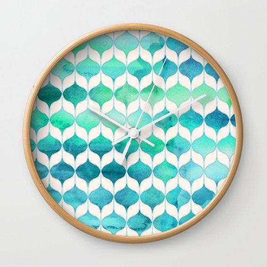 Ocean Rhythms and Mermaid's Tails Wall Clock
