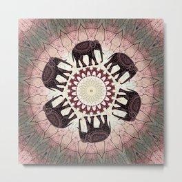 Boho Elephants Metal Print