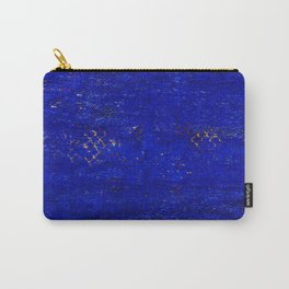 V11 Calm Blue Printed of Original Traditional Moroccan Carpet Carry-All Pouch