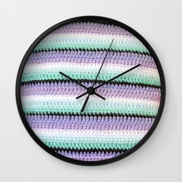 Crocheted Stripes Wall Clock