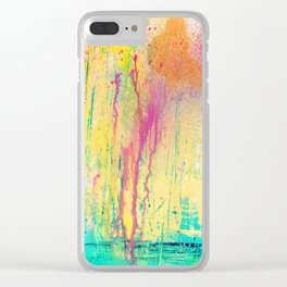 DRIPPING COLORS Clear iPhone Case