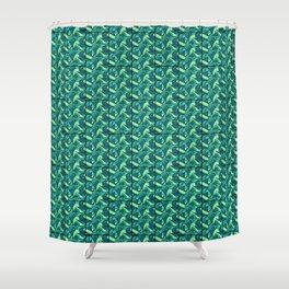 Sea Green Tiles Shower Curtain