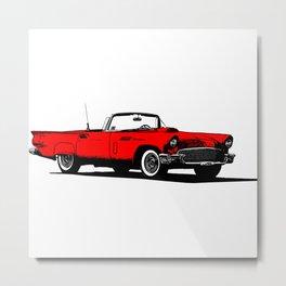 Red 1950s American Sports Car Metal Print