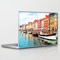 copenhagen Laptop & iPad Skins featuring Copenhagen, Denmark by Philippe Gerber