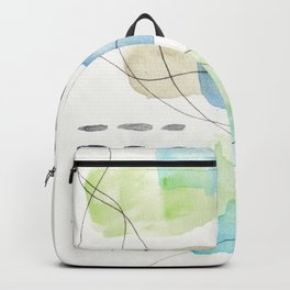 180805 Subtle Confidence 2| Colorful Abstract |Modern Watercolor Art Backpack