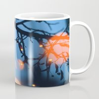 fireflies Mugs featuring Fireflies by Den Brooks