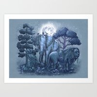 garden Art Prints featuring Stone Garden by Terry Fan