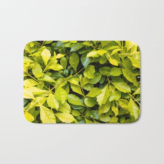 Too much green leaves Bath Mat