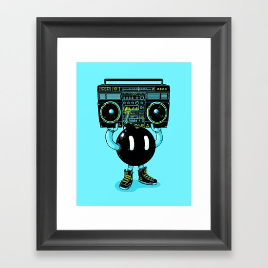 BOOMBOX Framed Art Print