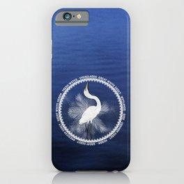Great Egret Wreath iPhone Case