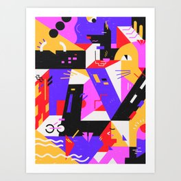 Multi-dimensional city Art Print