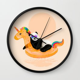 Chillin (Unicorn Panda) Wall Clock