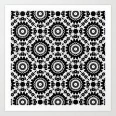 Monochrome, black and white pattern. Art Print