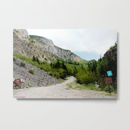 The Turnoff to the Perilous Engineer Pass Road, No. 2 of 5 Metal Print