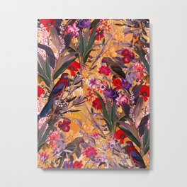 Floral and Birds XXVIII Metal Print