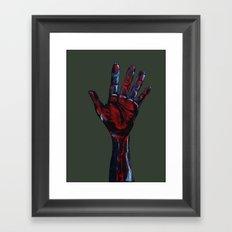 Hand of Death Framed Art Print