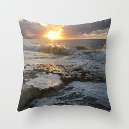 Sunset in the Dominican Republic Throw Pillow