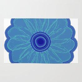 Funky Blue Flower Rug