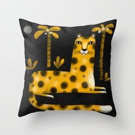 LOUNGING LEOPARD Throw Pillow