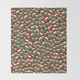 Sad christmas frogs pattern Throw Blanket