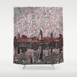 cleveland city skyline Shower Curtain