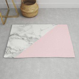 Marble + Pastel Pink Rug