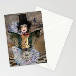 Lady in a Black Hat Stationery Cards