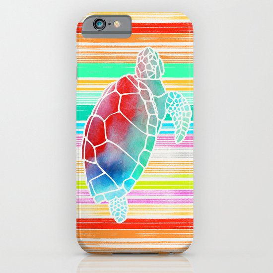 Turtle Collage by Garima and Jacqueline iPhone & iPod Case