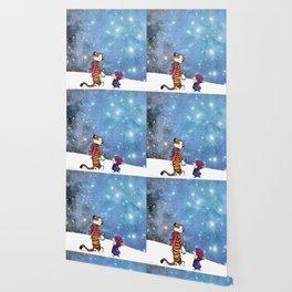 Calvin Hobbes snow white Wallpaper