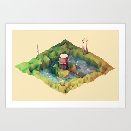 Moat Art Print