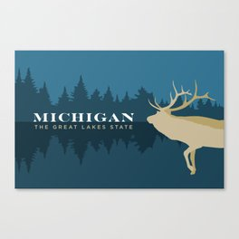 Michigan - Redesigning The States Series Canvas Print