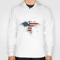 american flag Hoodies featuring AMERICAN FLAG by Oksana Smith