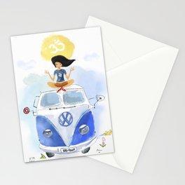 California yoga  Stationery Cards