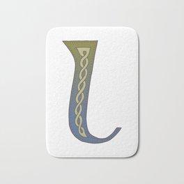 Celtic Knotwork Alphabet - Letter L Bath Mat