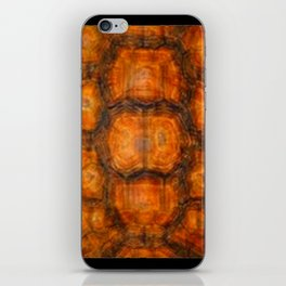 TEXTURED NATURAL ORGANIC TURTLE SHELL PATTERN iPhone Skin
