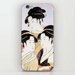 Three Beauties of the Present Day iPhone Skin