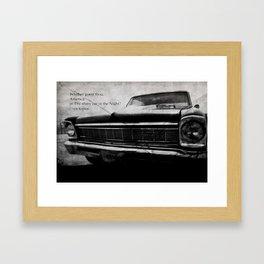 Shiny Car in the Night Framed Art Print