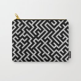 Maze -Black and Silver- Carry-All Pouch