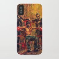 snatch iPhone & iPod Cases featuring Brad Pitt in Snatch by guy ritchie by Miquel Cazanya
