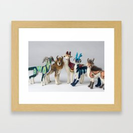 Fantastic Felted Beasts Framed Art Print